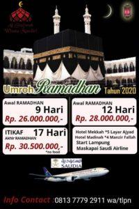 paket umroh ramadhan star lampung 2020